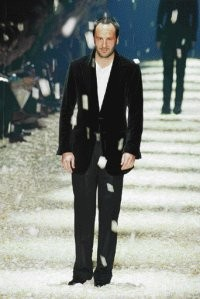 Tom Ford, pictured here on the runway at Gucci's show Saturday.