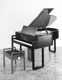 Karl Lagerfeld's limited-edition Steinway piano.