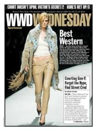 Here, her fringed pastel lynx coat, little top and ultralow-slung leather pants for Versace.