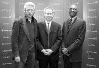 Boris Becker, John McEnroe and Edwin Moses.