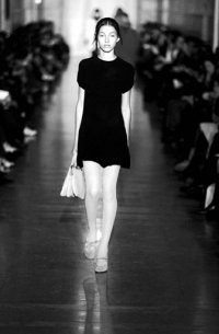 Miniskirts and all things Sixties were a hit with buyers, like this dress by Jill Stuart, at Designers & Agents.