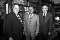 David Caputo, Pace University president, and Hal Upbin.