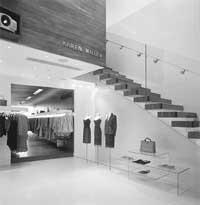 A minimalist approach: The Karen Millen store in Milton Keynes, England.