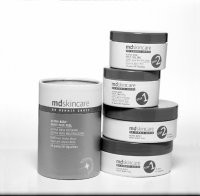 The new look of M.D. Skincare and its new body peel.