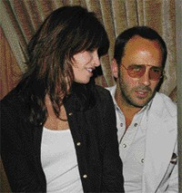 Gina Gershon and Tom Ford