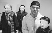Basil Twist with his puppets.