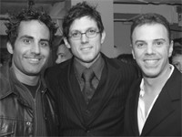 Angelo David, Mark Garrison and Rudy Sprogis at the b•cause event Wednesday at John Allan's.