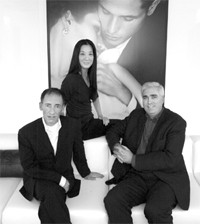 Chet Hazzard, Vera Wang and Kevin Boyce.