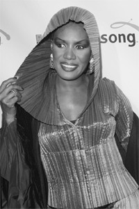 Grace Jones at the Song store party.