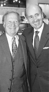 Hermès president Jean-Louis Dumas-Hermès with his cousin, Jerome Guerrand-Hermès.