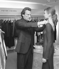 Peter Cohen at his trunk show at Mario's.