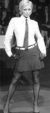 Paris Hilton on Wayne Cooper's runway in Melbourne.