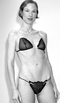 The new La Perla Shop will sell saucy-looking bras and panties by La Perla Black Label, like this number.