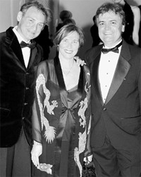 Cosabella's Sergio Oxman, Valeria and Ugo Campello.