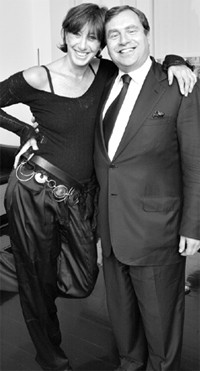 Donna Karan and Jeffry M. Aronsson on Tuesday.