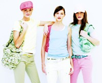 """Gap's cotton T-shirts, pants and belts, including its only """"cargo"""" style for spring."""