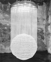 Swarovski crystal chandelier by Tom Dixon.