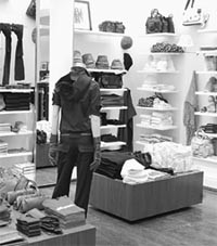 Club Monaco's first stand-alone accessories department opened earlier this month.