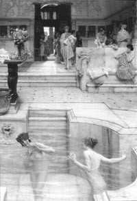 """""""A Favorite Custom,"""" painted by Sir Lawrence Alma-Tadema in 1909."""