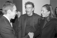 Jeff Koons, Calvin Klein and Kelly Klein.