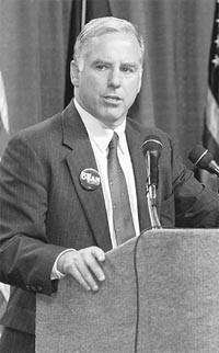 Former Vermont Gov. Howard Dean is the Democratic front-runner.
