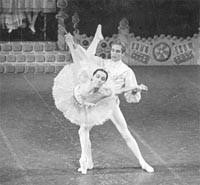 Maria Tallchief as the Sugar Plum Fairy with Erik Bruhn in 1964...