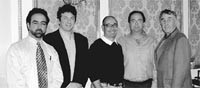 From left: John-Claude Hallak of Hallak Cleaners, Wayne Edelman of Meurice Garment Care, Jack Creed of Creeds Dry Cleaning, Chuck Horst of Margaret's Cleaners and Bob Craig of Coronet Cleaners.