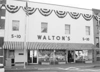 Sam Walton's first store in Bentonville, Ark.