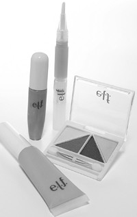 A selection of E.L.F. items.