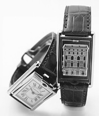 Watches were strong at all Richemont houses. Here, two from Cartier.