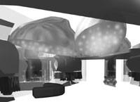 A rendering of Fornarina's Las Vegas shop.