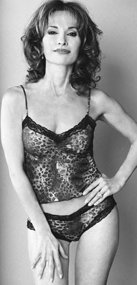 Susan Lucci models one of her new lingerie styles.
