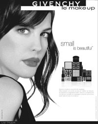 The print ad for Givenchy's new makeup line features Liv Tyler.