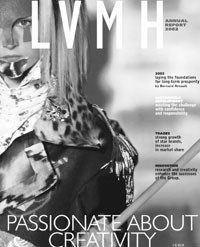 The cover of an LVMH annual report.