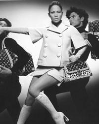 A Louis Vuitton ad featuring Jennifer Lopez.