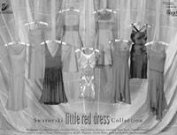 """Designer dresses for Swarovski's """"Little Red Dress Collection."""""""