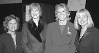 Susan Arnold, Lynne Greene, Lynn Sherr and Robin Burns.