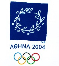 Many looks incorporate the 2004 Athens wreath logo.