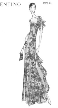 An exclusive Valentino look for Bergdorf Goodman.