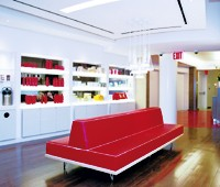 The new salon, pedicure area and retail displays at Elizabeth Arden's Manhattan flagship.