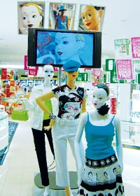 The new mannequin setup, on the main floor at Robinsons-May in Las Vegas.