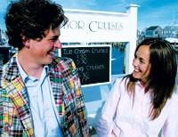 """Graham and Ali, hosts of """"Out and About With J. Crew."""""""