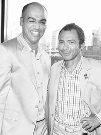 Hairstylist Jimmy Paul and Bumble founder and president,