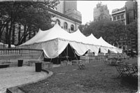 The tents in Bryant Park.