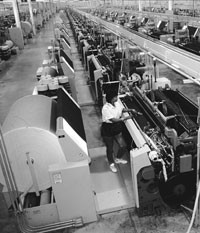 Domestic textile mills reported an uptick in business through the beginning of the year.