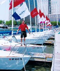 Zander Lassen, head instructor of the Manhattan Sailing School.