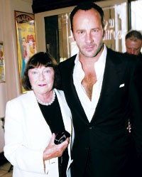 June Newton and Tom Ford
