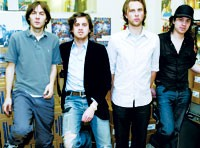 "Phoenix, from left: Thomas Mars, Christian Mazzalai, Deck d'Arcy and Laurent ""Branco"" Brancowitz."