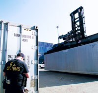 Customs has stepped up inspections of cargo containers.