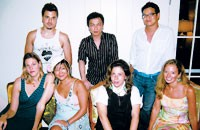 Clockwise from top left: Jamison Earnest from Yellow Fever, Jeffrey Chow, Peter Som, Michelle Smith from Milly, Alice Roi, Eugenia Kim and Julia Neaman.